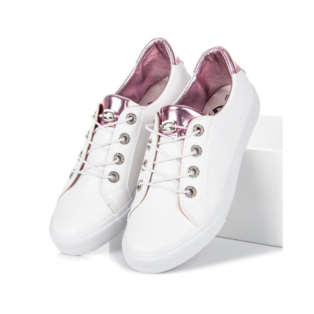 Biele tenisky Kylie K1880201ROSA - RioTopanky.sk 853cb0e600a