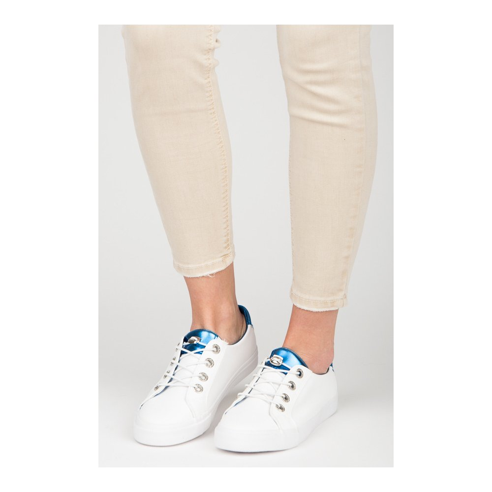 Biele tenisky Kylie K1880201AZ - RioTopanky.sk 026e97317b6