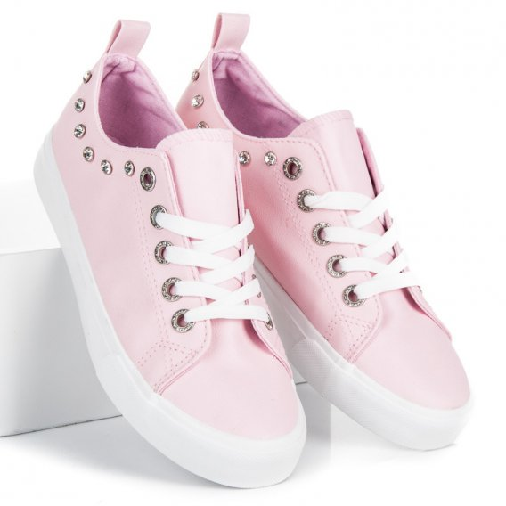 Ozdobné ružové tenisky BL122P