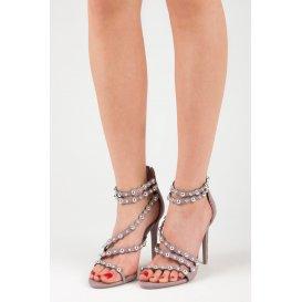 bef05d931e209 Sandále na podpätku na zips LE042PU ...