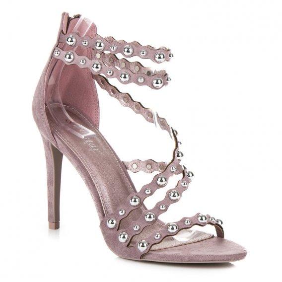 Sandále na podpätku na zips LE042PU