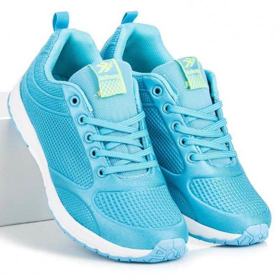 Modré textilné topánky B8084BL