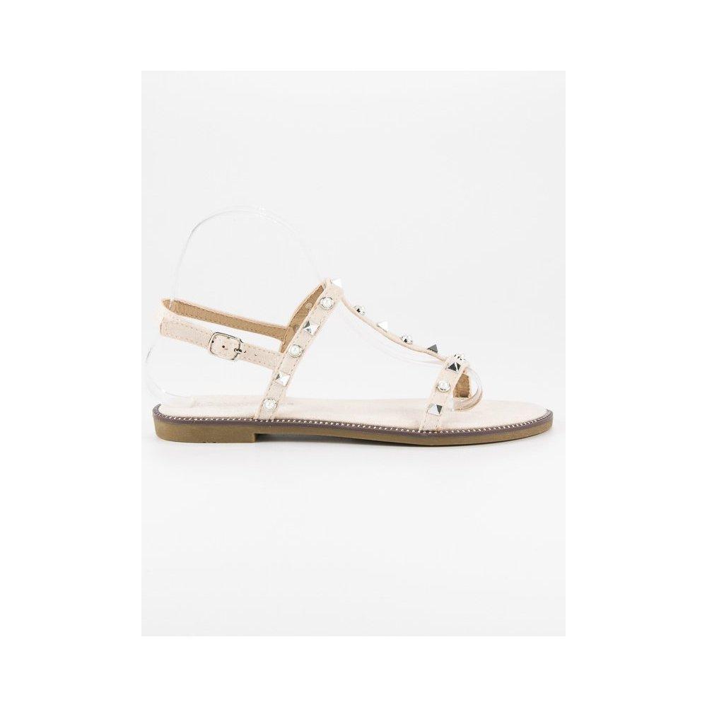5f7c44ab15 Béžové sandále S-375BE - RioTopanky.sk