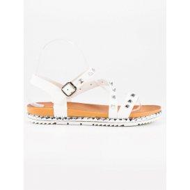 Biele sandále s cvokmi WSJ-51W