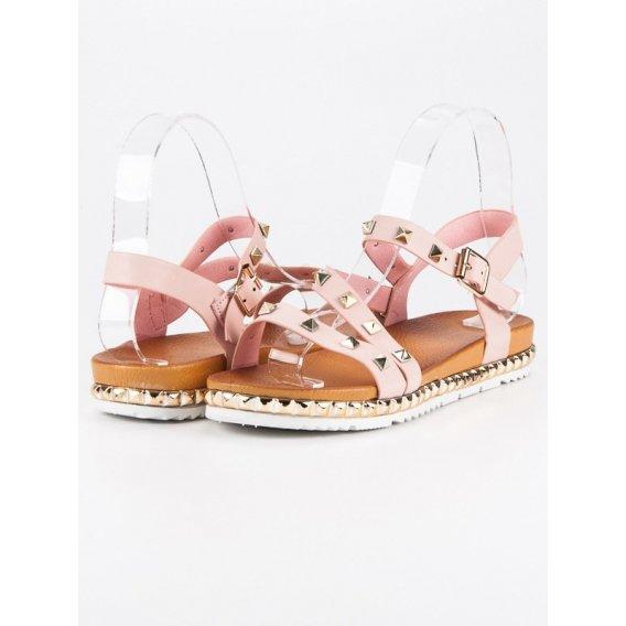 Ružové sandále s cvokmi WSJ-51P