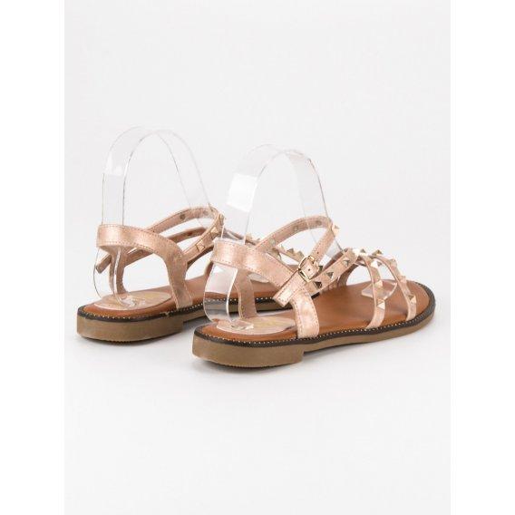 Ploché sandále s cvokmi 301RO-GO