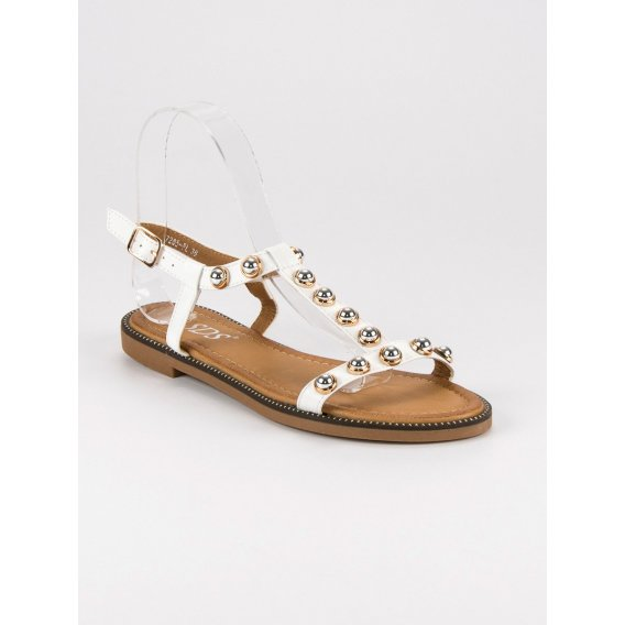 Biele sandále so sponou 7285W