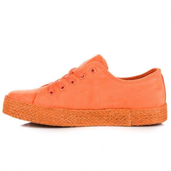 Oranžové trenisky espadrilky K1830201NA