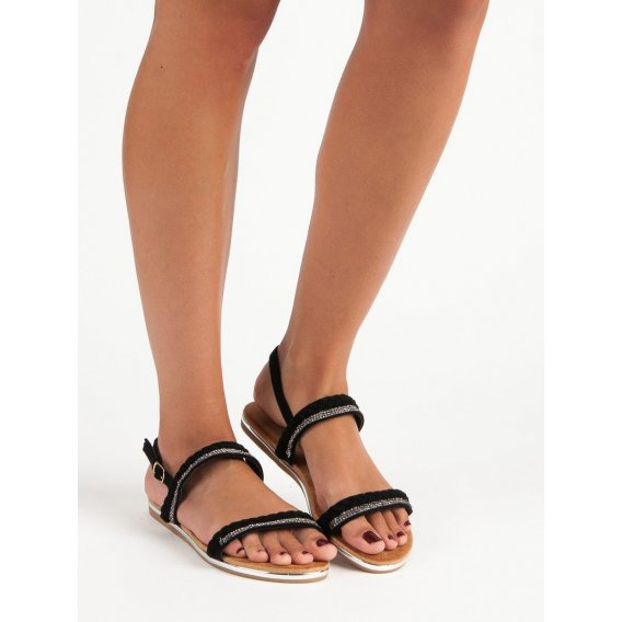 Semišové ploché sandále FM5028B