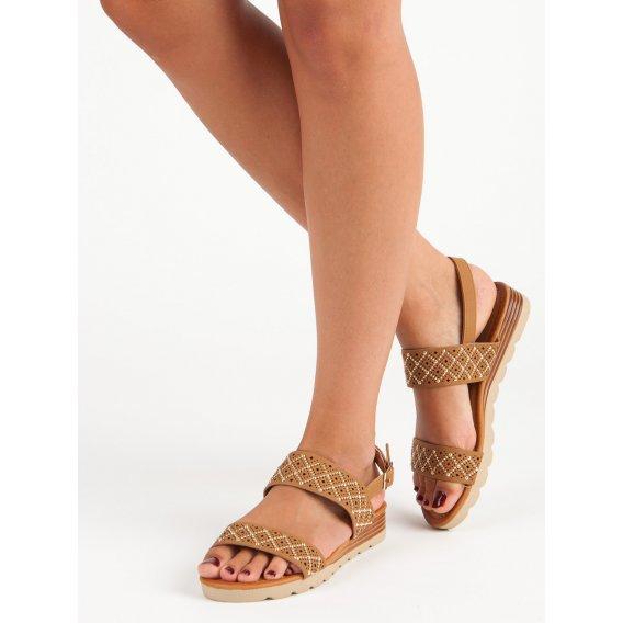 Dierkované ploché sandále A78/TA