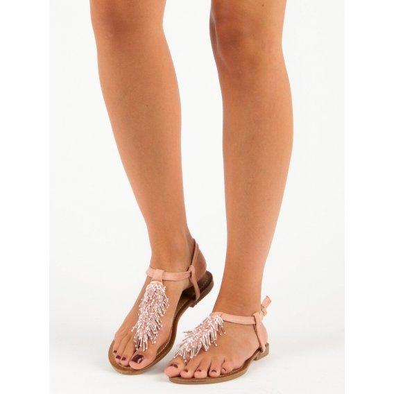 Ozdobné sandále žabky HLS044P