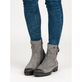 7ca45eb422f26 ... Šedé kožené topánky Vinceza 1266/5G