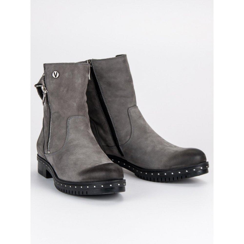 13fd41456f637 Šedé kožené topánky Vinceza 1266/5G - RioTopanky.sk