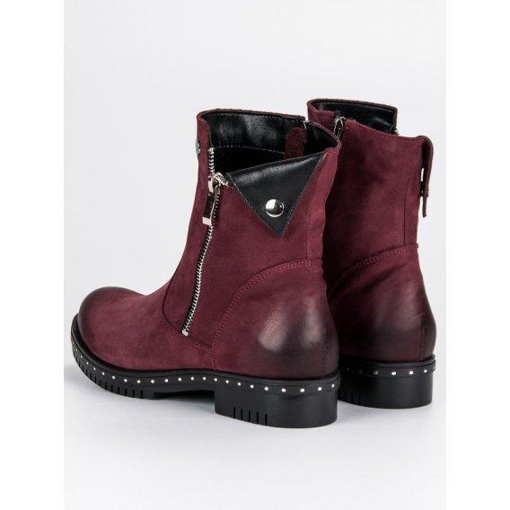 Kožené topánky bordové Vinceza 1266/5DR.FU