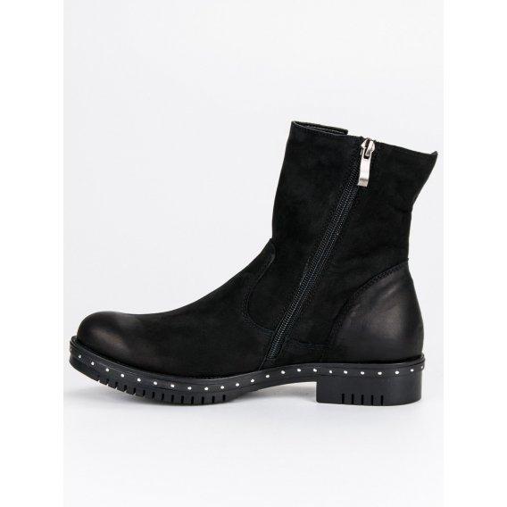 Čierne kožené topánky Vinceza 1266/5B