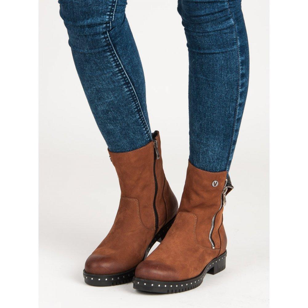 eb430968750cd Hnedé kožené topánky Vinceza 1266/5BR - RioTopanky.sk
