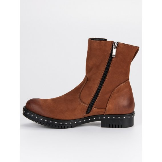 Hnedé kožené topánky Vinceza 1266/5BR