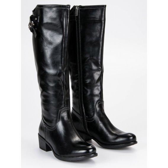 Čierne čižmy Vinceza XY19-10455B