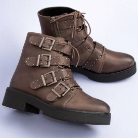 Hnedé topánky workery C7856TA