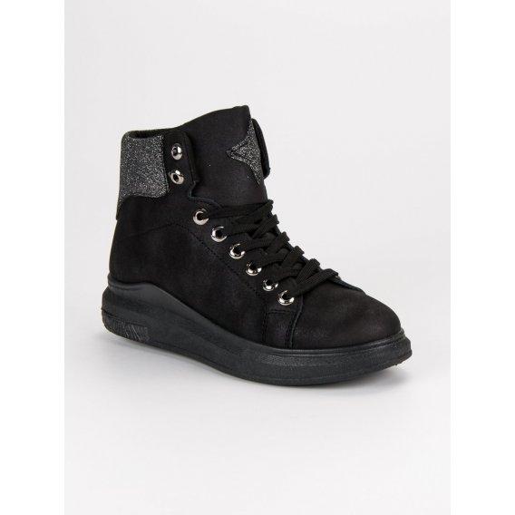 Čierne tenisky na zips BAF19-11635B