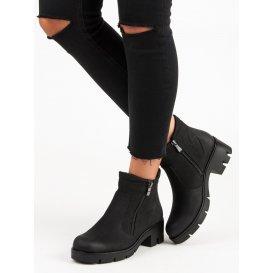 Čierne topánky Vinceza HX19-16044B