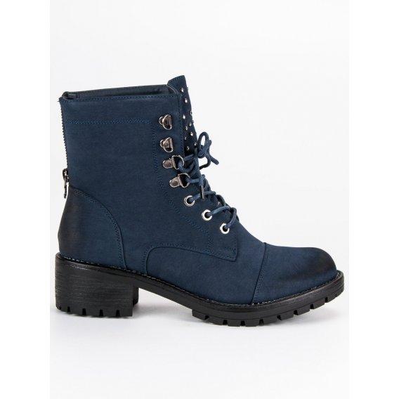 Štýlové tmavo modré workery Vinceza HX19-16018N