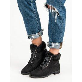 Semišové viazané topánky NC87B