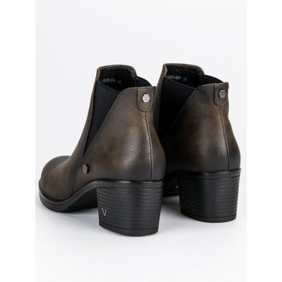 Topánky pérka na podpätku Vinceza XY19-10453GR