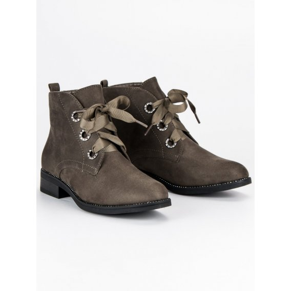 Viazané semišové topánky NC779OL