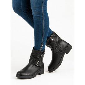 Čierne topánky Bikery D669B