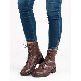 Hnedé viazané topánky BO-193BR