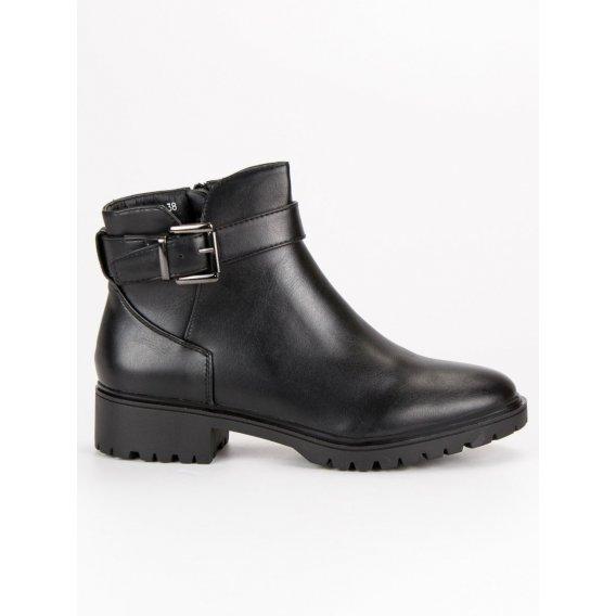 Nízke topánky so sponou T038-1A-B