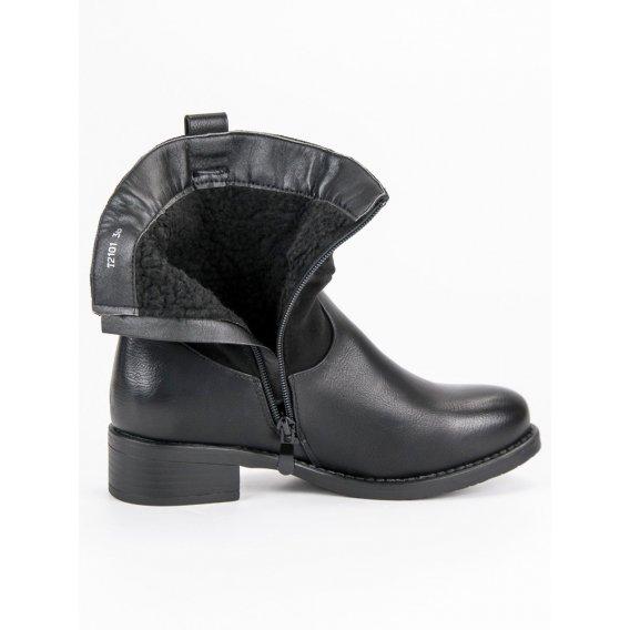 Čierne topánky workery T2101B