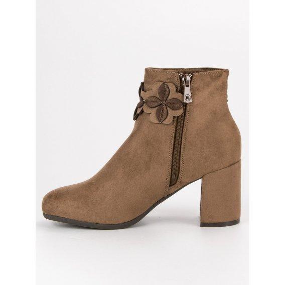 Semišové hnedé topánky K1822804TA