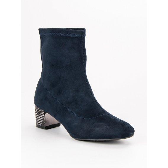 Nazúvacie tmavomodré topánky A218-02-06MAR