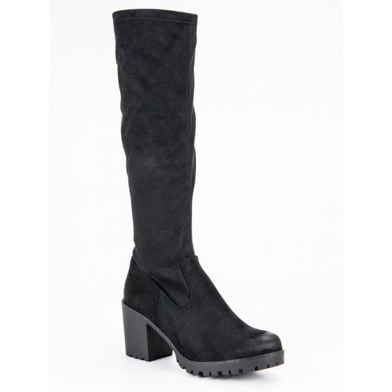 Semišové topánky na podpätku Vinceza HX19-16053B