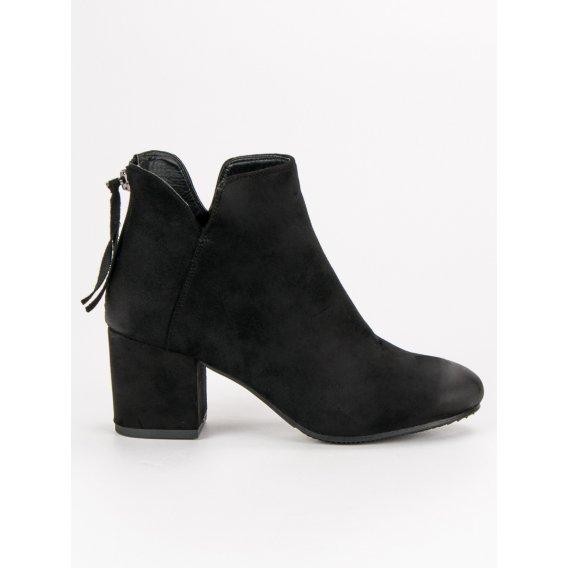Semišové topánky na podpätku Vinceza HX19-16005B