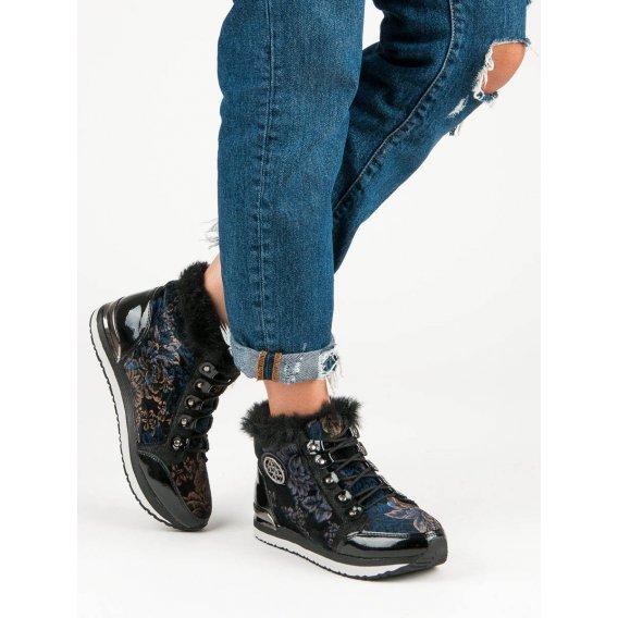 Módne viazané sneakery A218-06-01MU