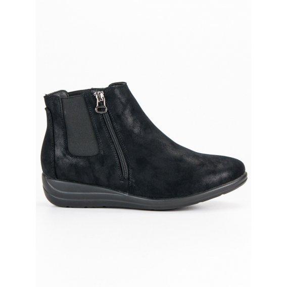 Čierne topánky na zips K1837204NE