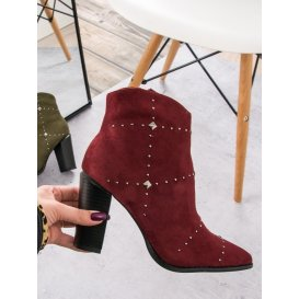 b23ab69544 Semišové bordové topánky K1808704BUR