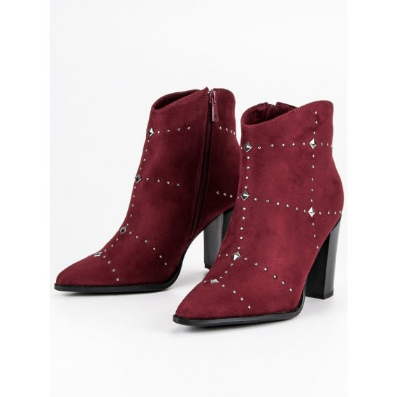 Semišové bordové topánky K1808704BUR