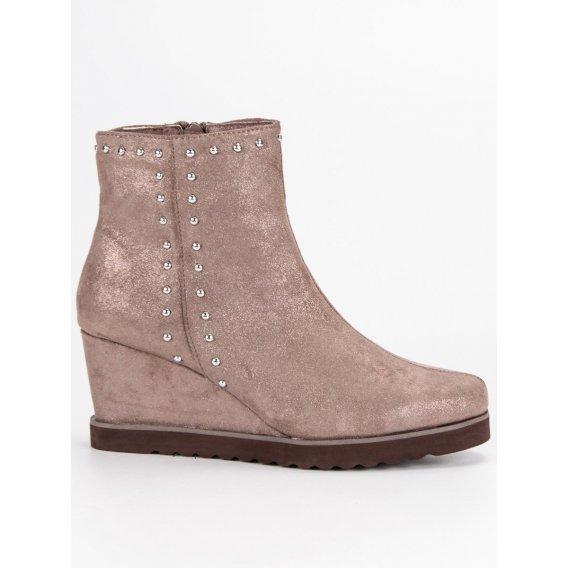 Béžové topánky na kline K1807402TA