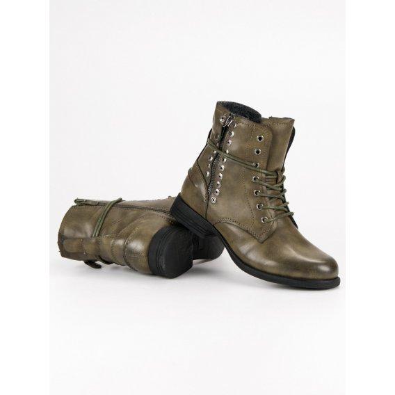 Zelené rockové topánky