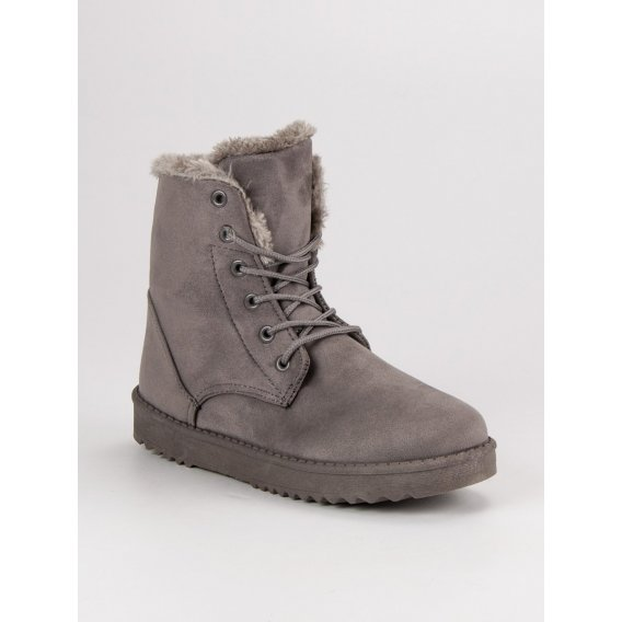 Teplé semišové topánky