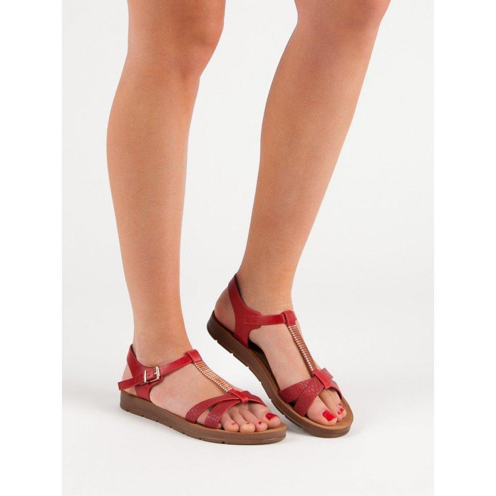 46fddf76dd50 Klasické červené sandále - RIOtopánky.sk