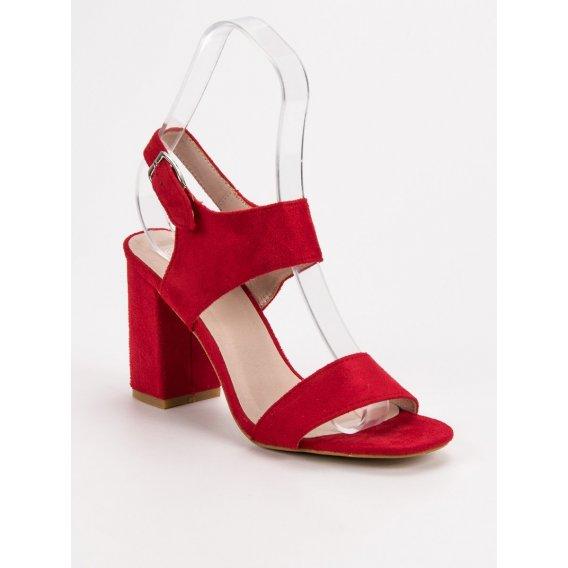 Červené sandále Vinceza