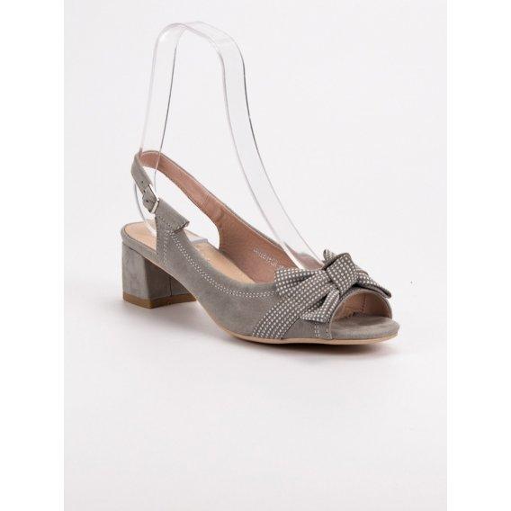 Semišové sandále s mašľou
