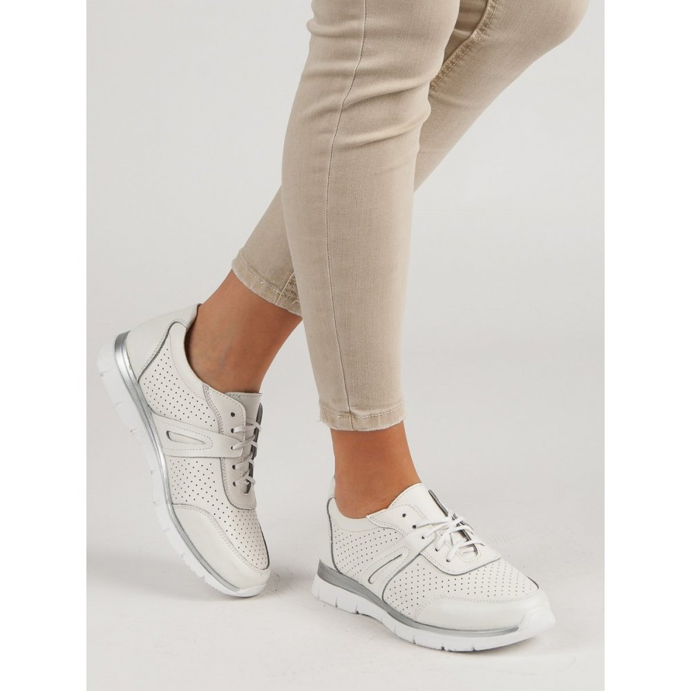 d34dce3b4087 Biele kožené športové topánky - RIOtopánky.sk