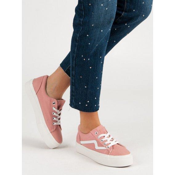 Módne ružové tenisky