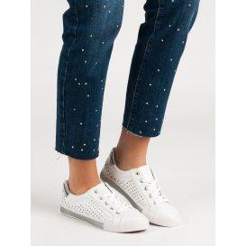 Biele tenisky s hviezdičkami